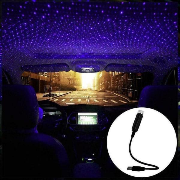 USB biltillbehör interiör atmosfär Star Sky lampor natt