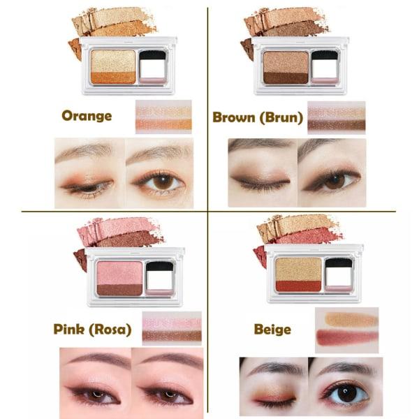 2in1 Ögonskuggor - kontur palett med borste Beige