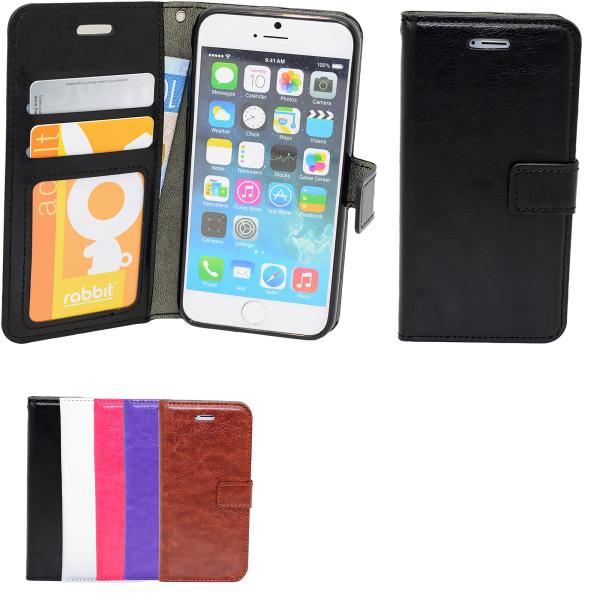 Fodral iPhone 5/5s/SE2016 plånbok Läder Lila
