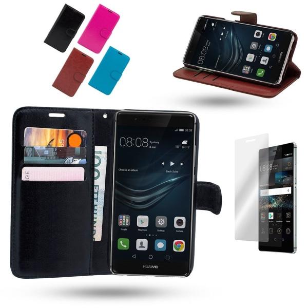 Huawei Honor 8 - Läderfodral/Skydd Svart