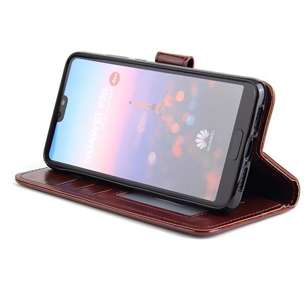 Huawei P20 Pro - Läderfodral/Skydd Svart