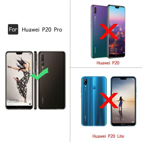Huawei P20 Pro - Läderfodral / Skydd Svart