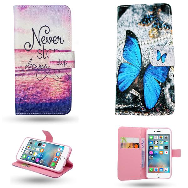 iPhone 6 / 6S - Läderfodral / Skydd Blå