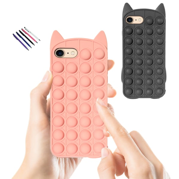 iPhone 6/7 / 8 / SE (2020) - Skydd för fodral Pop It Fidget iPhone SE(2020) Rosa