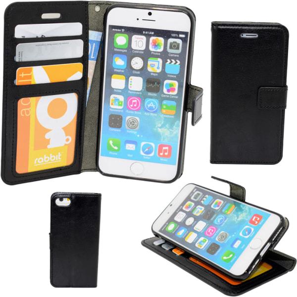 iPhone 7/8/SE (2020) - Plånboksfodral / Skydd Svart