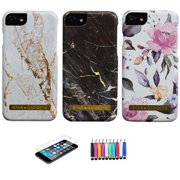 iPhone 7/8/SE (2020) - Skal / Skydd / Blommor / Marmor Rosa