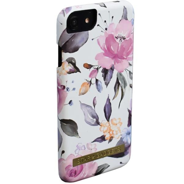 iPhone 7/8/SE (2020) - Skal / Skydd / Blommor / Marmor Vit