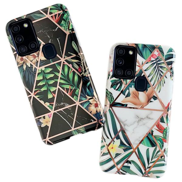 Samsung Galaxy A21s - Skal / Skydd / Geometriskt Vit