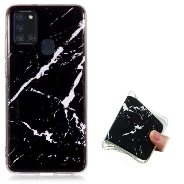 Samsung Galaxy A21s - Skal / Skydd / Marmor Vit