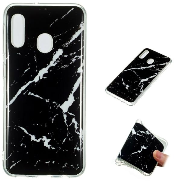 Samsung Galaxy A40 - Skal / Skydd / Marmor Svart