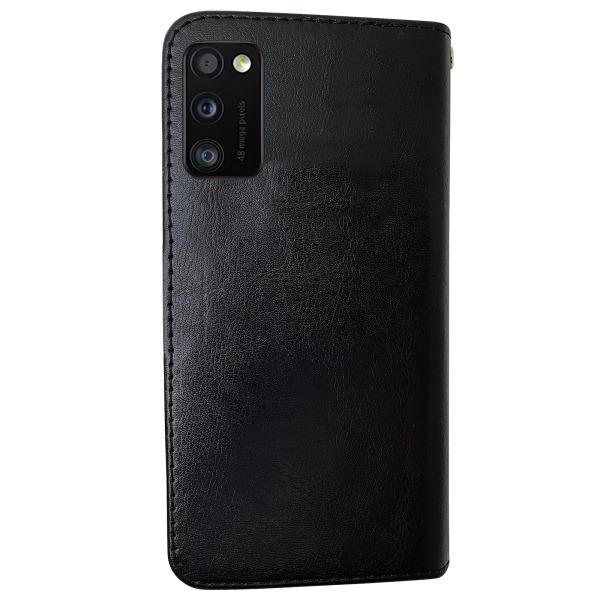 Samsung Galaxy A41 - Läderfodral / Skydd Svart