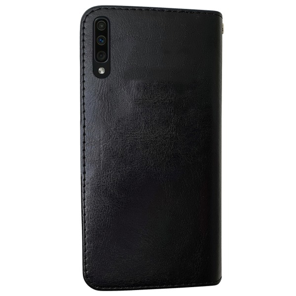 Samsung Galaxy A50 - Läderfodral / Skydd Svart