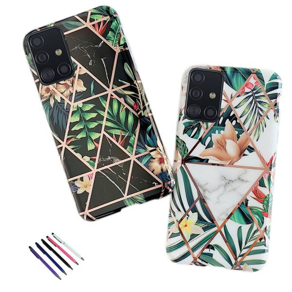 Samsung Galaxy A51 - Skal / Skydd / Geometriskt Svart