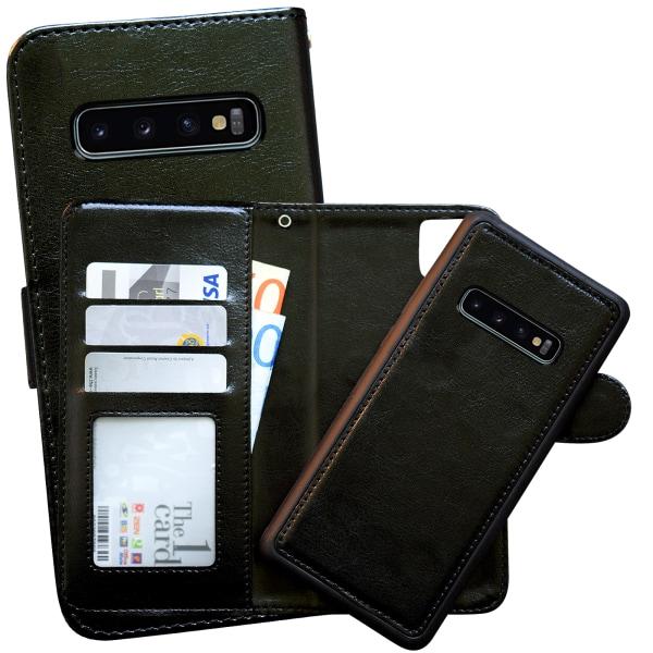 Samsung Galaxy S10 Plus - Läderfodral / Skydd Vit