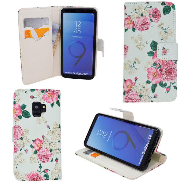 Samsung Galaxy S9 - Läderfodral / Skydd Blå