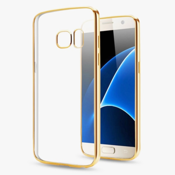 Exklusivt skydd / fodral Samsung Galaxy S7 Guldkant