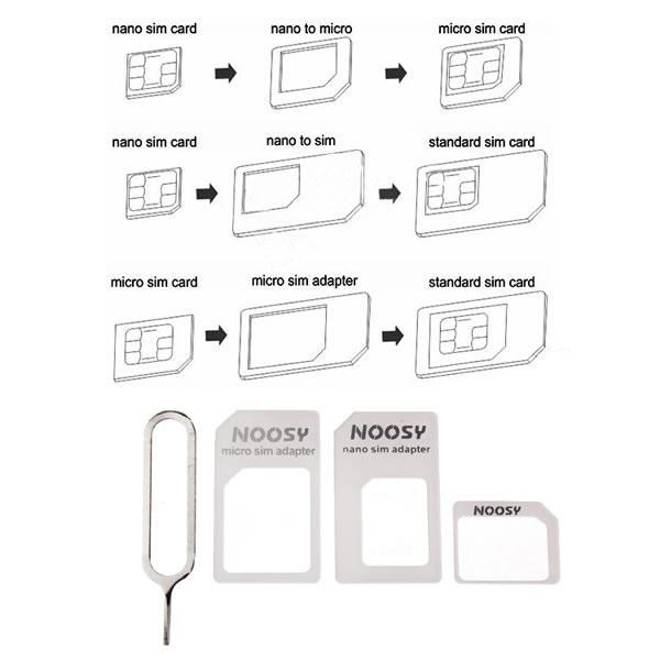 Nano / Micro / Standard SIM Universal SIM korts Adapter