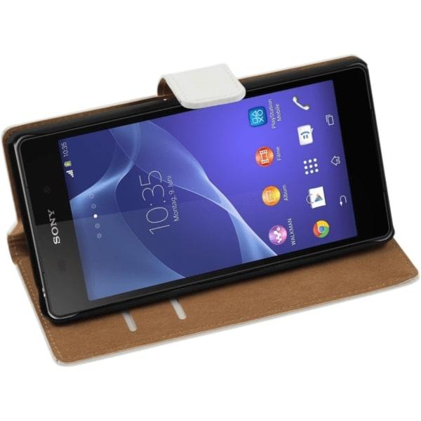 Sony Xperia Z5 Vit Väska / Plånbok / Fodral / Skydd