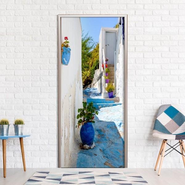 Dörrtapet - Blue Alley Size: 90x210
