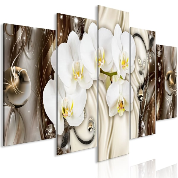 Tavla - Orchid Waterfall (5 Parts) Wide Brown Size: 225x100