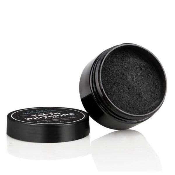 Tandblekning med aktivt kol + Tandborste i Bambu Black