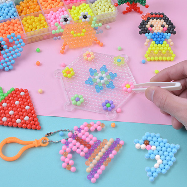 Fuse Beads Water Spray Beads Set Child Toy 10 Grid candy