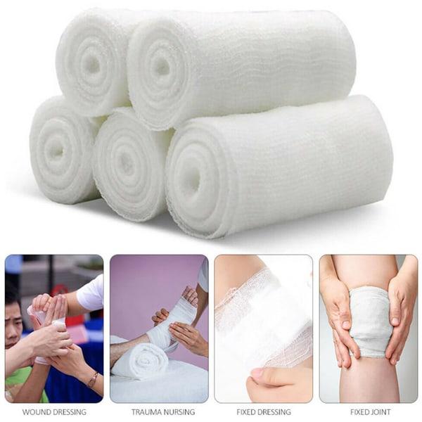 1 Roll Disposable Gauze Bandage Roll Medical Bandages 5cm*4.5m