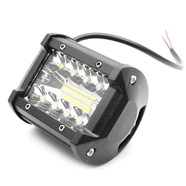 60W 3 rad vattentätt arbete 4 tum 20 LED-lampor Spotlight Lampa