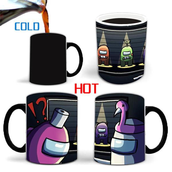 Among Us Heat Sensitive Coffee Mug Among Us Heat Changing Cup A