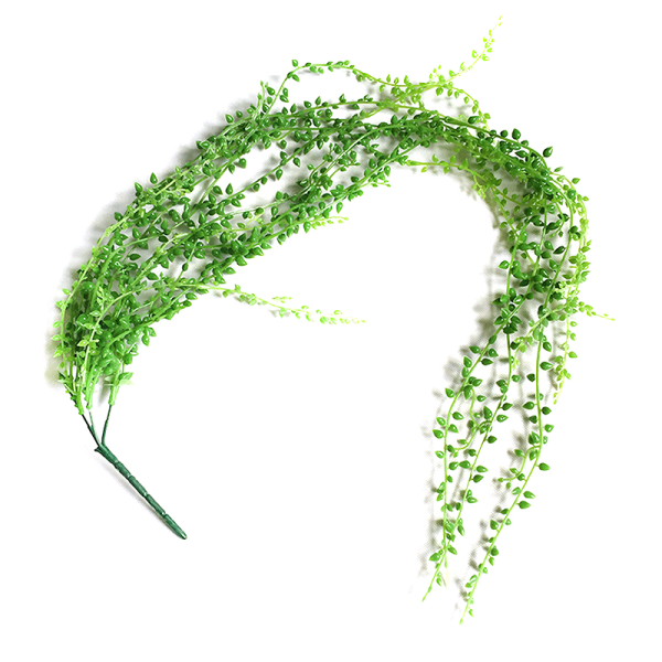 Konstgjorda Hängande Växter Fake Flower Green Ivy Wall Decor Dark Green 2 PCS