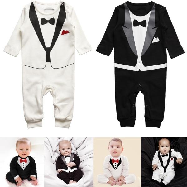 Baby Kid Boy Cotton Gentleman Jumpsuit Romper