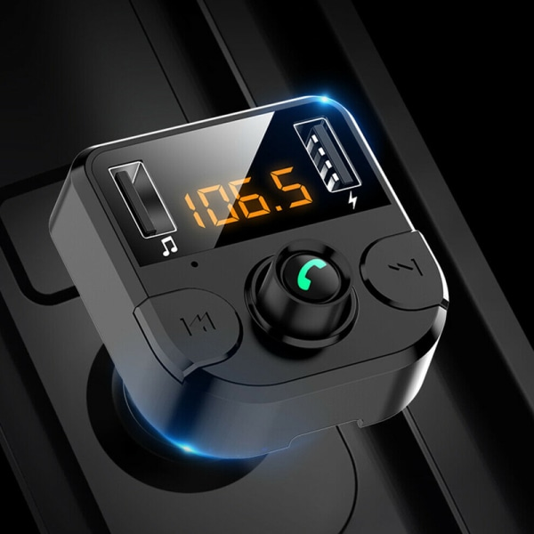 Bluetooth LCD trådlös bil MP3 FM-sändare Black