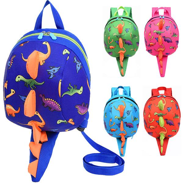 Child's Backpacks Dinosaur Schoolbag Gift Red