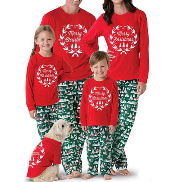 Julpyjamas familj matchande kvinnor män Kid Set Kid 3Y