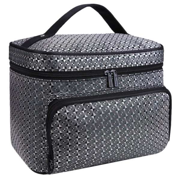 Diamond Pattern Travel Outdoor Organizer Bag Blue