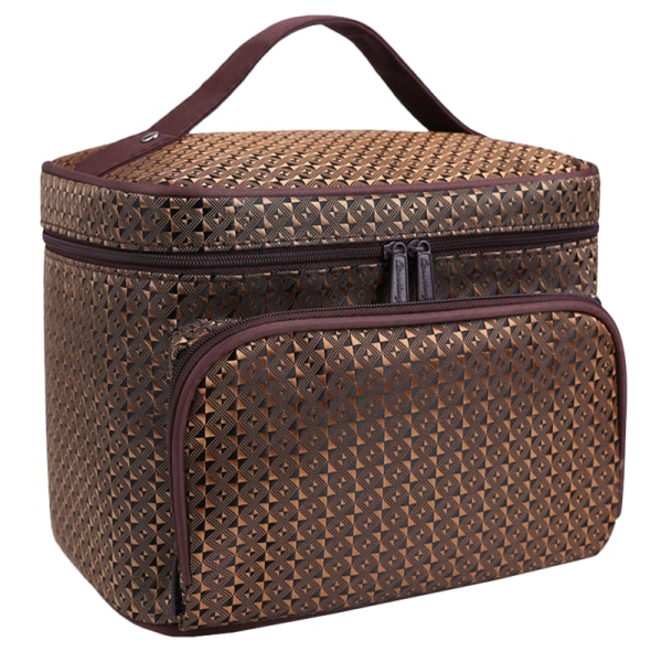 Diamond Pattern Travel Outdoor Organizer Bag Red