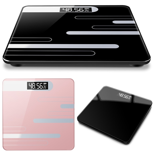Digital Bathroom Scale Body Subjects Weighing Scale Pink 26*26