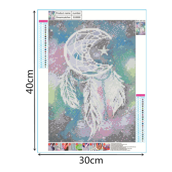 Dream Catcher Diamond Painting Home Wall Decor 30*40cm