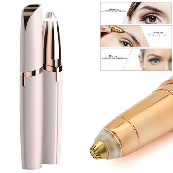 Electric Eyebrow Hair Remover Epilator LED Beuty Hair Trimmer Gold