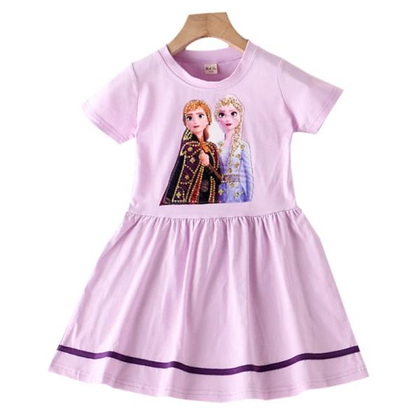 Elsa Anna Frozen Disney Girls Princess Dress Pink 130 cm