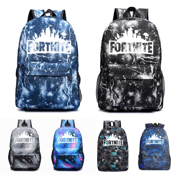 Fortnite Luminous Backpack Laptop Rucksack School Daypack Travel Black