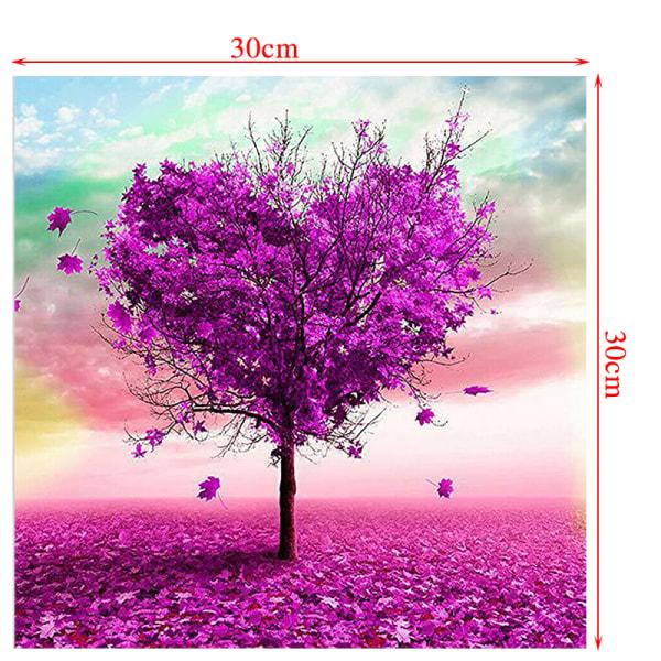 Full Drill DIY 5D Diamond Painting Kit Heart Tree 30*30cm