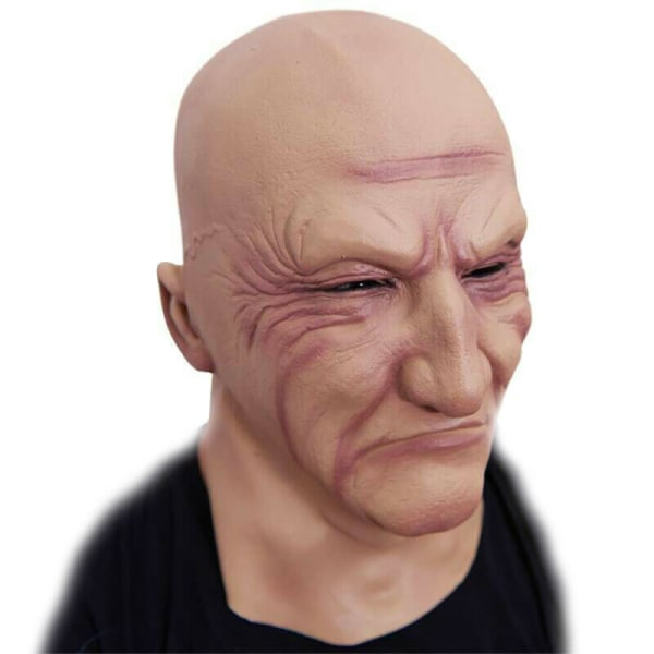 Halloween Mask Old Men Cosplay Costume Fancy Party Horror Dress One Size