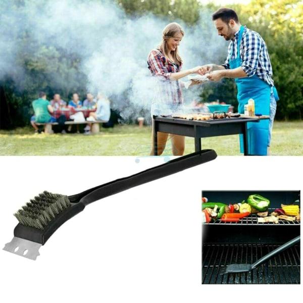 Kraftig grillrengöringsborste och skrapgrill