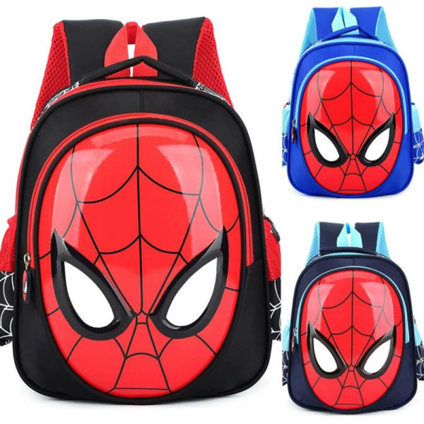 Kids Children Boys Spiderman Backpack School Book Bag Black