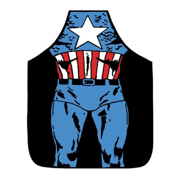 Kitchen Unisex Apron Adults Superhero Iron men