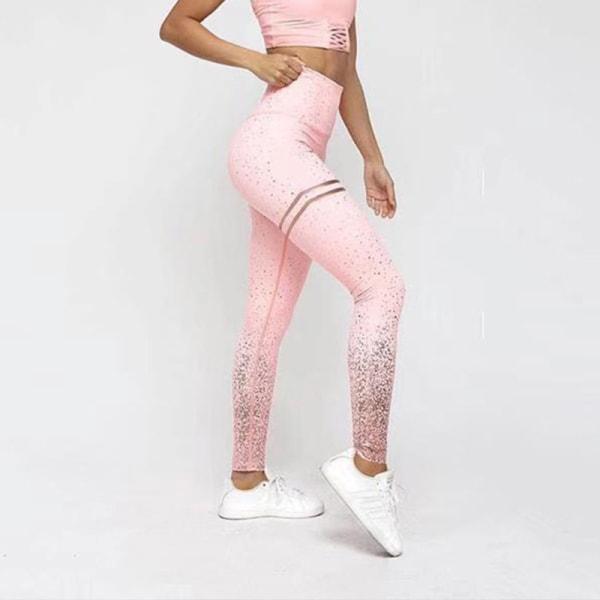 Kvinnor Sequin Workout Legging Sport Yoga Pants Black S