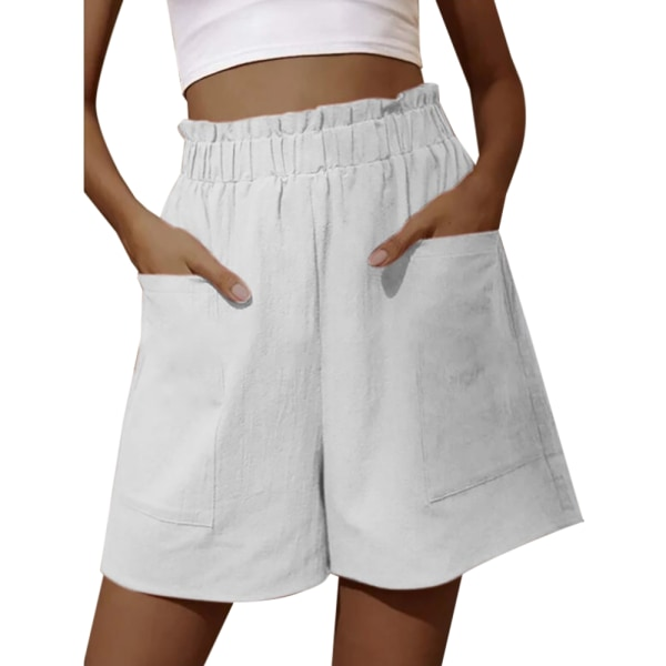 Kvinnor Sommar Elastisk Midja Lösa Korta Byxor Casual Shorts