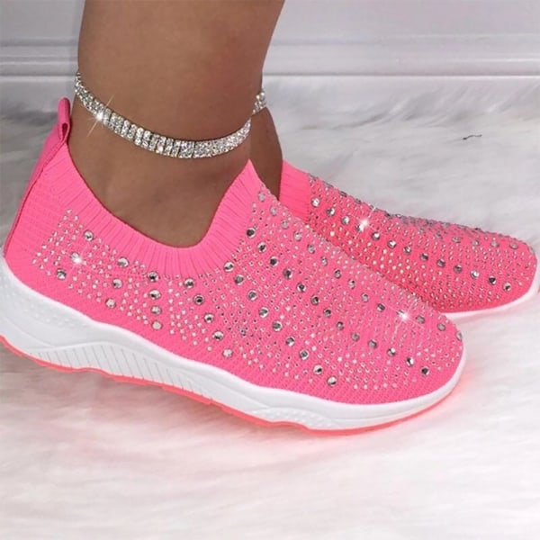 Ladies All-Match Sports Flat Shoes Pink 43