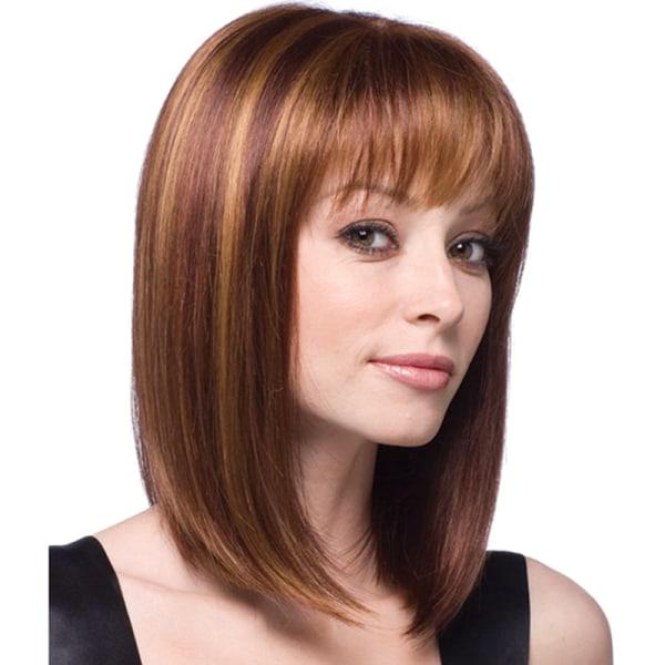 Damer Medium rakt hår ljusa peruker i guld